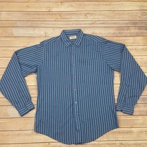 Mens Levis Button Down Shirt Size Large Vertical Stripes. - $13.98
