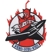 Us Navy VF-122 Vertical Fighter Squadron Patch - VENI-VIDI-VICI - To COME-TO See - $11.87