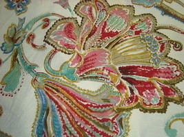 SHOWER CURTAIN MW NEW RALPH LAUREN ANTIGUA PAISLEY FLORAL RED PINK BATH ... - $129.99