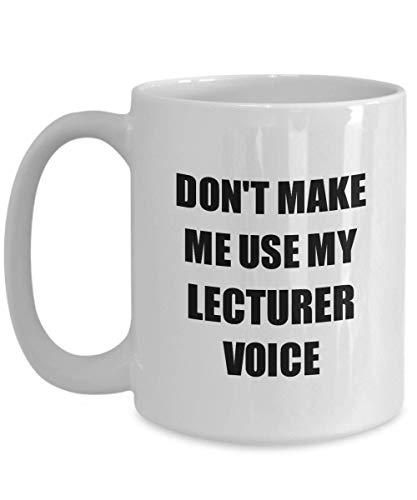 Primary image for Lecturer Mug Coworker Gift Idea Funny Gag for Job Coffee Tea Cup 15 oz