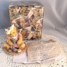 Cherished Teddies Enesco Ava You Make Me Feel Beautiful Inside Figurine Box COA - $16.00
