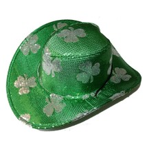COOL THINGS*(1) Accessory COWBOY HAT Sequin GREEN+SILVER St. Patricks CL... - $19.99