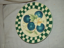 "Checkers And Blue Berry Small  Bread and Butter (Side) Plate 6"" - $9.75"