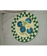 """Checkers And Blue Berry Small  Bread and Butter (Side) Plate 6"""" - $9.75"""