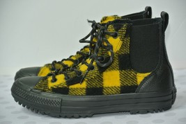 NEW Converse Chelsea Woolrich Womens Sz 7.5 M Black Yellow Hi Top Boots ... - $34.64