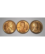 1942-S, 1944-P&S Lincoln Wheat Cents (3 Coins) Lot AE984 - $21.22