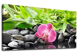yearainn Canvas Wall Art Zen Spa Art Scenery Painting Waterside Black Pe... - $53.14