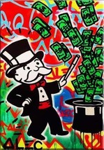 Alec Monopoly Brainwash Oil Painting on Canvas Graffiti art wall decor M... - $29.69