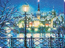 "Bead Embroidery DIY Kit ""Shining blue"" 14.6""х10.6"" - $71.95"