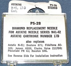159-DS73 PS-28 RECORD PLAYER STEREO NEEDLE for Astatic 17 17d 135 217D 78 RPM image 2