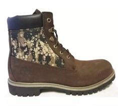 "NIB Timberland A115E Men's 6"" Inch Brown Camo Panel Boots Double Sole Si... - $2.200,84 MXN"