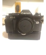 Canon AL-1 Black 35mm Film Camera + Power Winder from photographer's estate - $84.15
