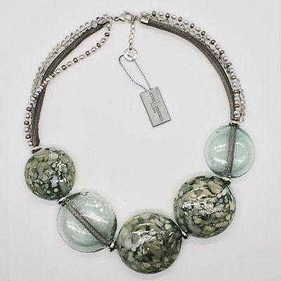 NECKLACE ANTIQUE MURRINA VENICE WITH DISCS BIG OF MURANO GLASS COA75A34