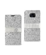Reiko Samsung Galaxy S7 Edge Jewelry Rhinestone Wallet Case In Silver - $10.50