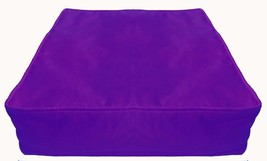 Purple Box Polyester Silk Cushion Cover Solid With Piping & Zipper - $9.90+
