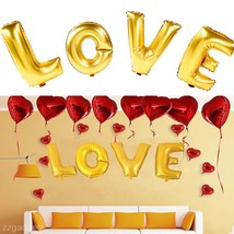 "Happly ""LOVE"" Letters Aluminum Foil Film Balloons Wedding Party Bar Decor - €0,97 EUR"