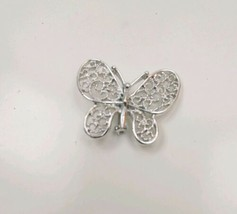 Fashion Butterfly Bow Rhinestone White Elegant Women Wedding Party Brooc... - $9.49