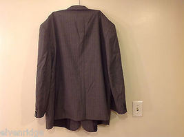 Adolfo Big and Tall 2-Piece Suit Set Intermediate Charcoal Gray with Pinstripes image 7