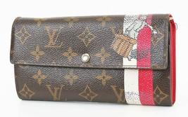Auth LOUIS VUITTON Sarah Monogram Red Groom Long Wallet Zipper Coin Purs... - $179.00
