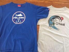 Lot of 2 Boys' Large T Shirts Pelagic & O'NEILL Fishing Surfing Pre-Owne... - $16.40