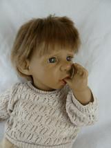 "Vintage doll Panre 15"" Thumb Sucking Vinyl & cloth Boy Blond Brown eyes - $26.92"