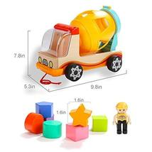 TOP BRIGHT Wooden Shape Sorter Toys for Toddlers Learning Sort and Match for 1 2 image 5