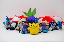 Pokemon Plushe 1999 Burger King Toy Lot 26 parts total! 13 Pokemon, 13 Pokeballs - $135.44