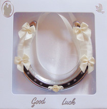 Real horseshoe decorated for wedding. Polished ... - $28.00