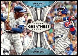 2019 Topps Greatness Returns #GR-8 Ernie Banks/Javier Baez NM-MT Chicago... - $4.99
