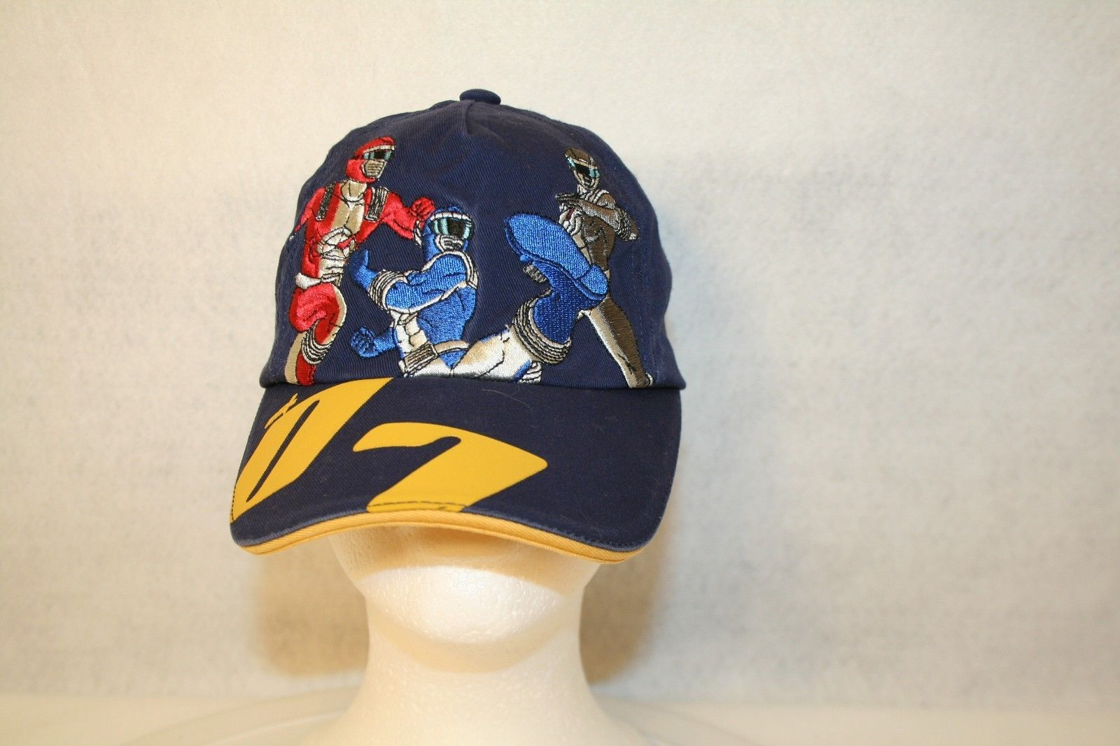 Primary image for Disney Store Red Blue Black Power Rangers 07 XS Adjustable Dark Blue Cap Hat
