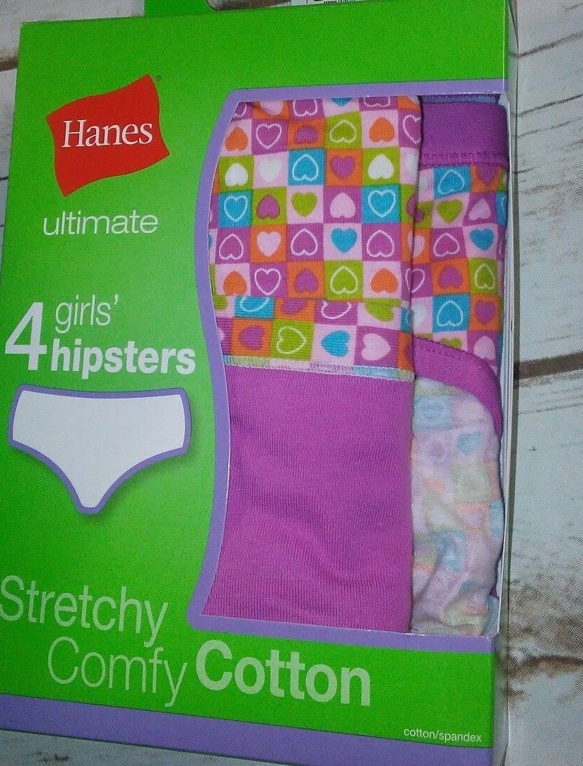 a9be6e1733f9 4 Hanes Ultimate TAGLESS Cotton Stretch Girls' Hipsters YOU CHOOSE STYLE &  SIZE