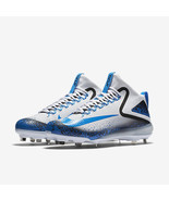 NIKE TROUT FORCE 3 BASEBALL CLEATS-WHITE & PHOTO BLUE SIZE 11-RETAIL $140 - $52.99