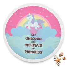Beach Blanket Round Soft Polyester Pool Picnic Towel Personalized - Unic... - $38.99