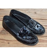Clarks Size 8 M Everyday Black Croc Patent Leather Loafer Active Air Com... - $23.74