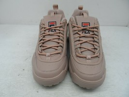 FILA Women's Lace-Up Low Disruptor Casual Sneakers Rose Pink Size 8M - $56.99