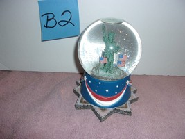 Statue of Liberty Snow Globe &  Music Box  National Anthem Hallmark  - $29.95