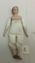 Porcelain Miniature MALE DOLL in Dollhouse Scale 1:12 - $19.99