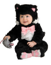 Adorable Plush Inky Black Cat or Purple Kuddly Kitty Infant Costume Rubi... - €22,19 EUR