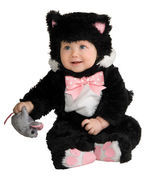 Adorable Plush Inky Black Cat or Purple Kuddly Kitty Infant Costume Rubi... - £18.99 GBP