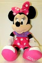 "Disney 2015 Minnie Mouse Pink Purple 22"" Large Stuffed Plush Toy Clubhou... - $16.83"