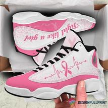 Pink Ribbon Fight Like A Warrior Breast Cancer Awareness JD 13 Shoes HG - $79.99+