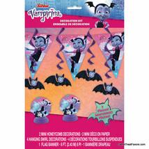 VAMPIRINA Party Decoration Kit Girls 7PCS Centerpiece Banner Swirl Supplies - $7.87