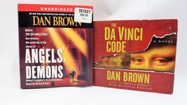 Lot of 2 Audio Books by Dan Brown The Da Vinci Code and Angles and Demons - $16.05