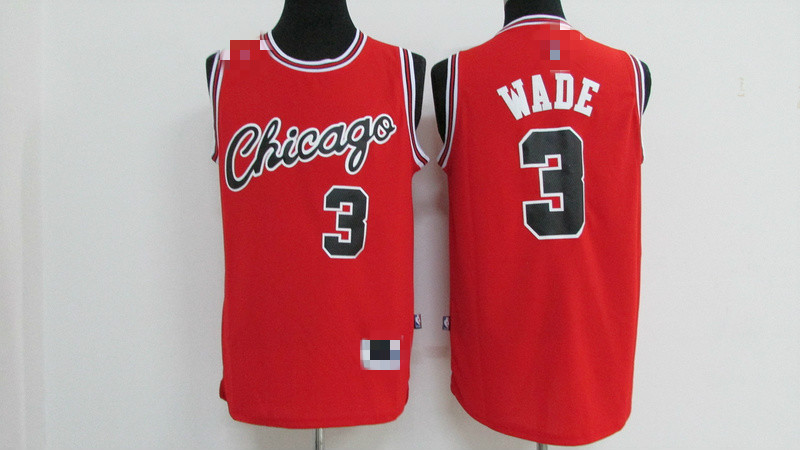 Used, #3 Dwyane Wade Jersey Chicago Bulls  Jersey.Red for sale  USA