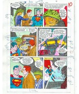 Original 1985 Superman 409 page 10 DC Comics color guide art colorist's ... - $59.39