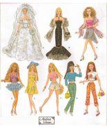 "11-1/2"" Barbie Summer Doll Clothes Bustier Wedding Gown Sundress Sew Pat... - $12.99"