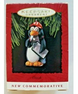"Vintage 1993 Hallmark ""Coach"" Ornament With Box - Commemorative Penguin NOS - $14.99"