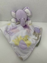 Blankets & Beyond lavender purple elephant baby lovey small security bla... - $14.84