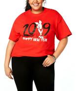 Love Tribe Disney Trendy Red Cotton Piglet Graphic-Print T-Shirt Plus S... - $9.89
