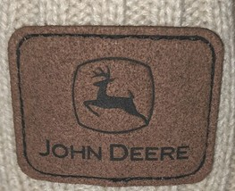 John Deere LP67786 Acrylic Knitted Tan Green And Yellow Beanie image 2